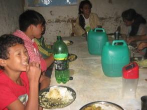 The kids  Celebrating Teej festival