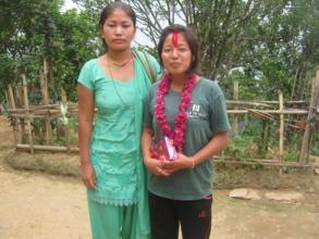 Kopila with her aunt