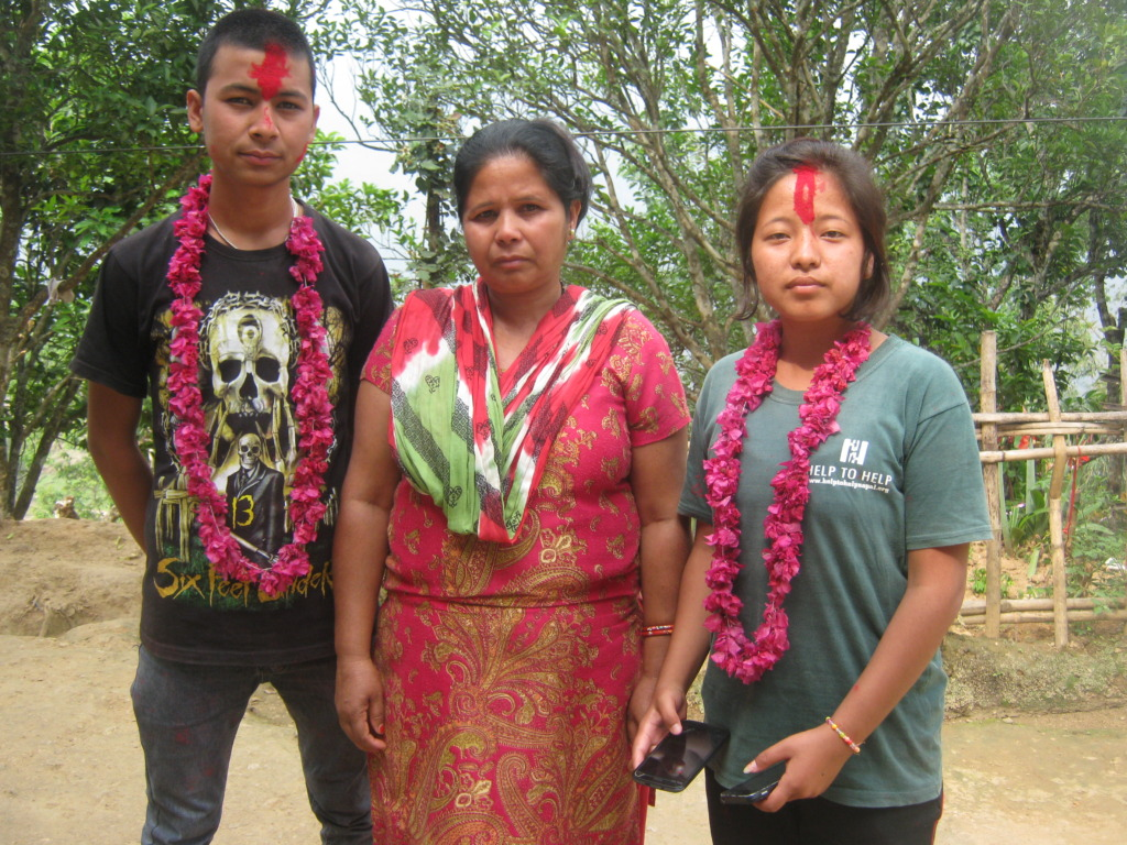 Rabin and  Kopila  with her caretaker  mother