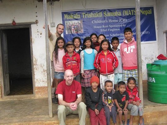 MAST guests visiting the orphanage