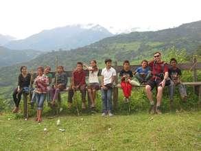 Michael enjoyed short trek with  the kids