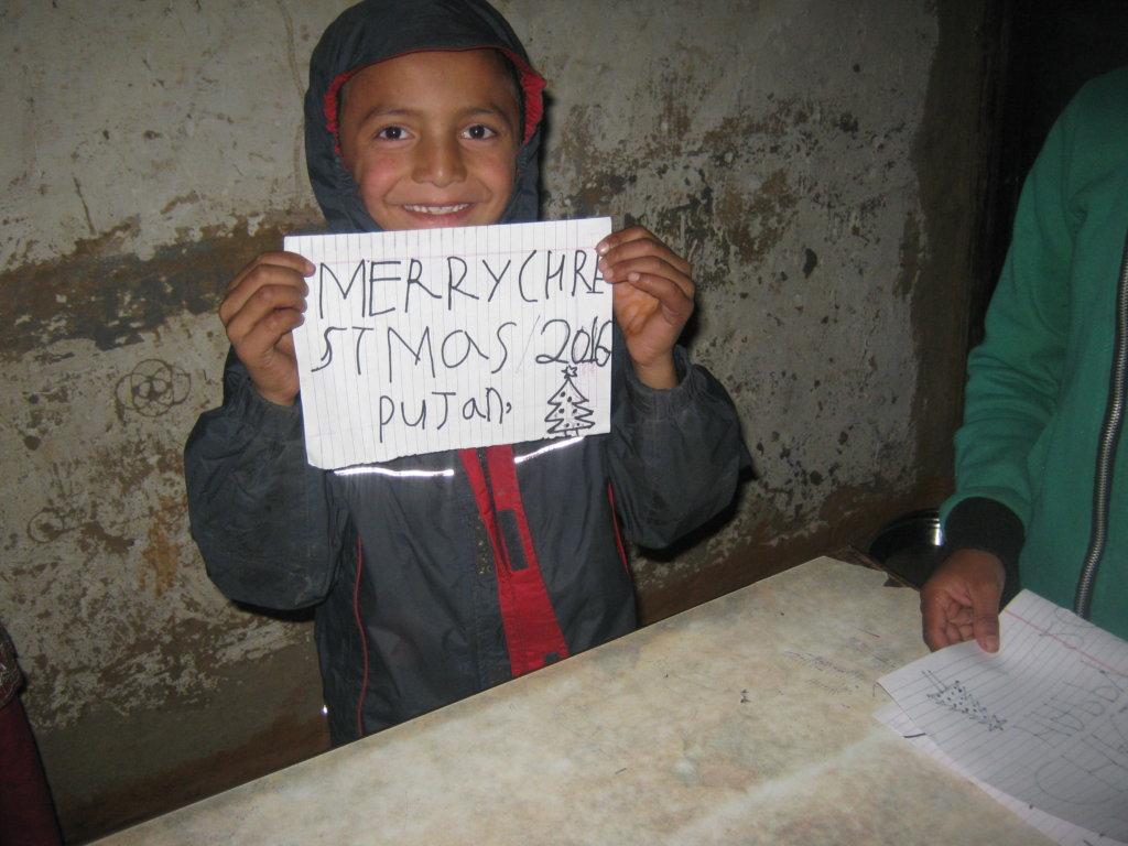 The little kid Pujan  Khadka