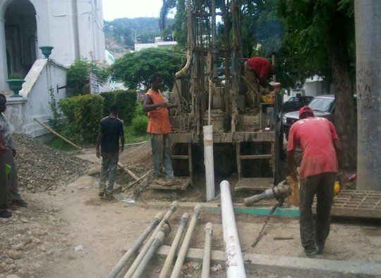 Drilling the New Well at Hospital