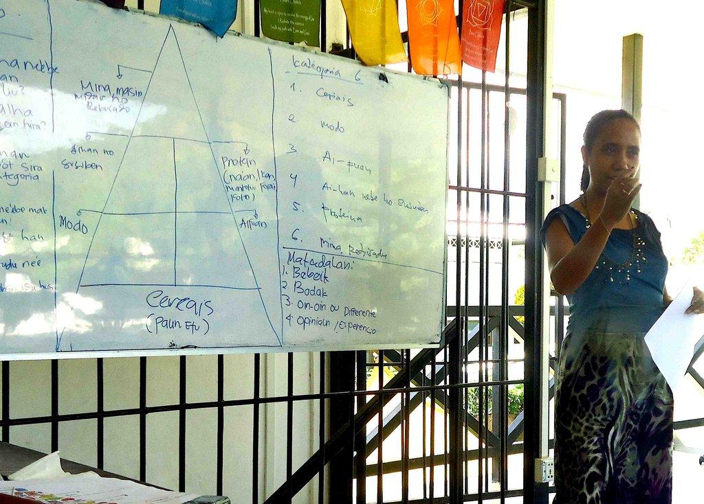 Teachers practice their skills at monthly meetings