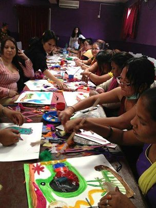 During Art Therapy Training