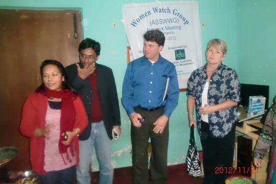 International visitor in Network meeting