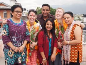 Laughs with the wonderful staff of Raksha Nepal