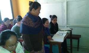 women studying in school...