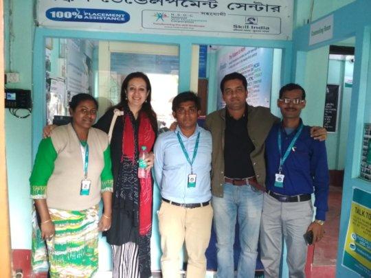 Monisha and Subhra with field team
