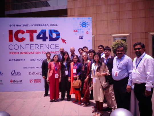 Anudip Team at ICT4D Conference
