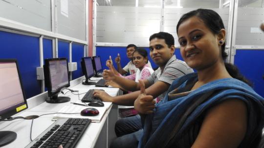 Students under training