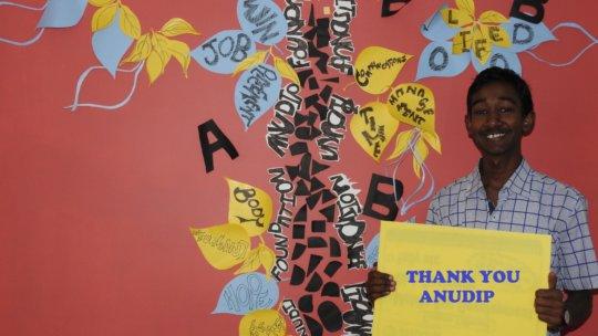 An Anudip student