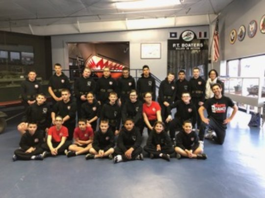 Instructor Henry with the Young Marines