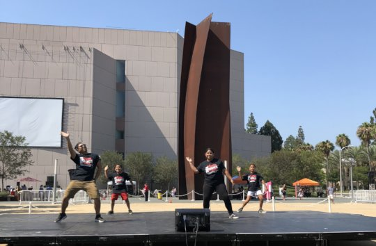 Students performing at National Dance Day: OC