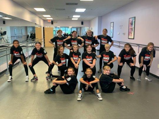 Dancers at Granite State Dance Ctr. strike a pose