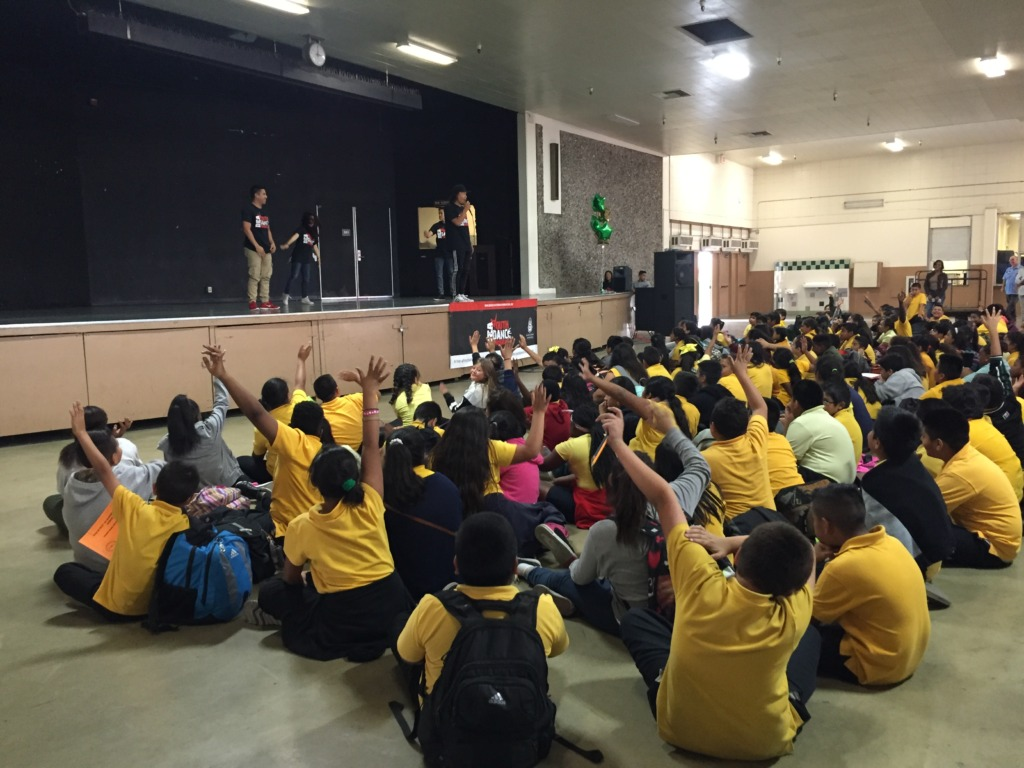 Kids engage in YDP/DEA assembly
