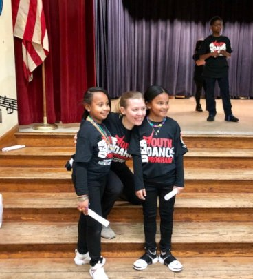 DEA YDP Instructor Jennifer with two students