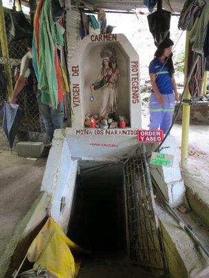 Entrance to mine in Segovia