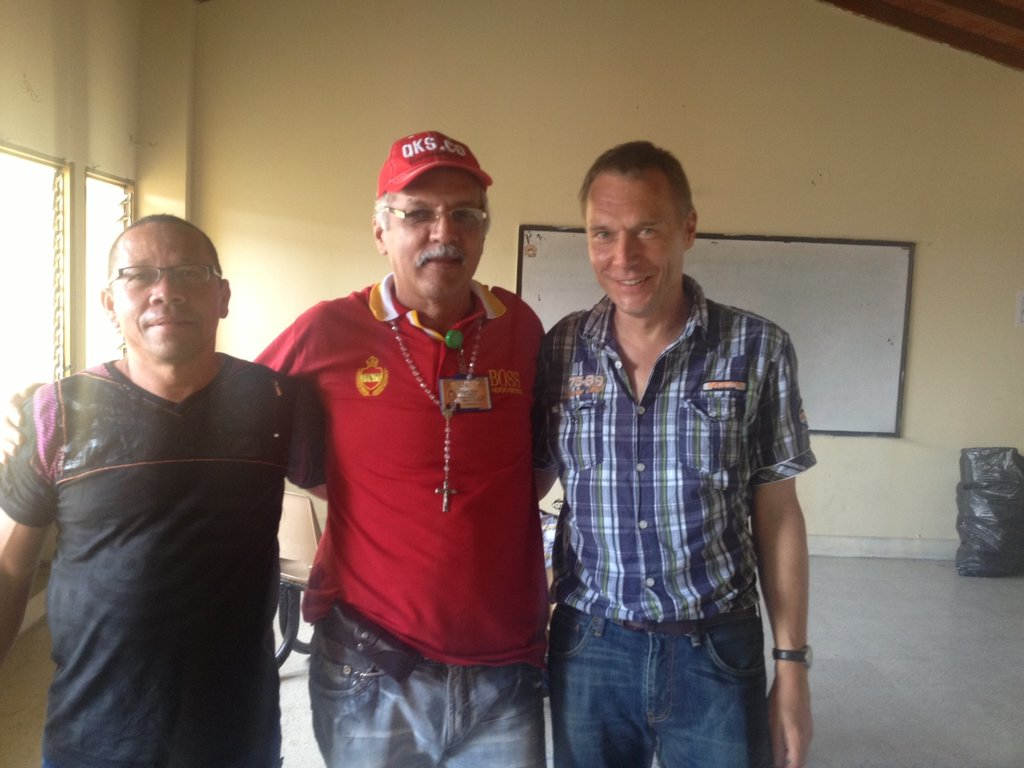 Hernando Henao (Asomina) and Ronald Koepte (ARM)