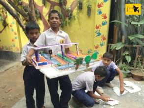 Students showcasing with their Science Project