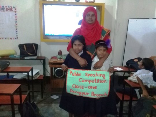 Public Speaking Competition (Winners with Teacher)
