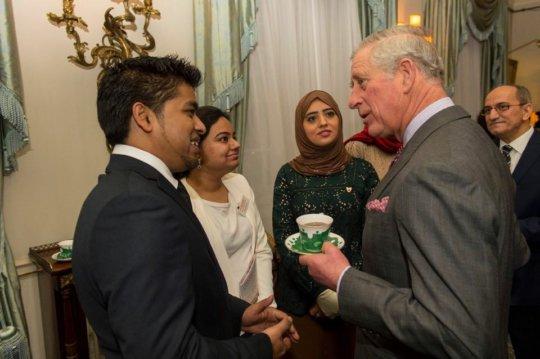 Meeting His Highness Prince Charles, Mosaic Award