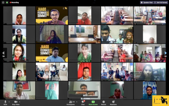 First Virtual Feedback Summit by JAAGO Foundation