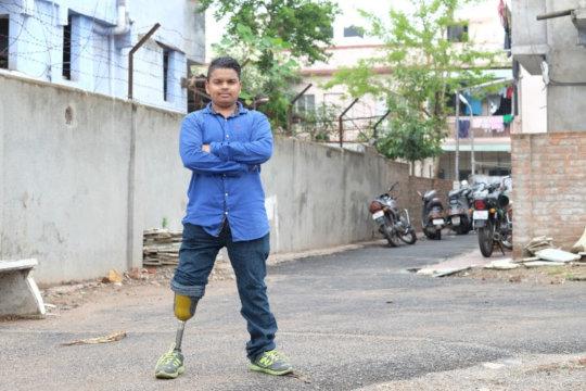 Bhupendra in 2016, age 18