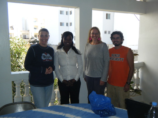 Nursing student Anna (2nd from L) & N.A. folks!