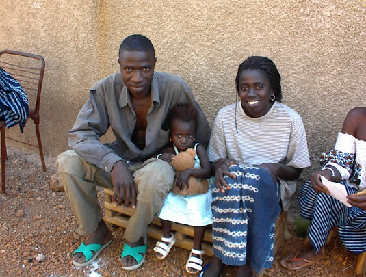 Sponsored student (Nadege) with parents