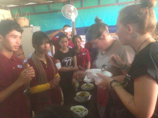 Cooking class-Testing their food