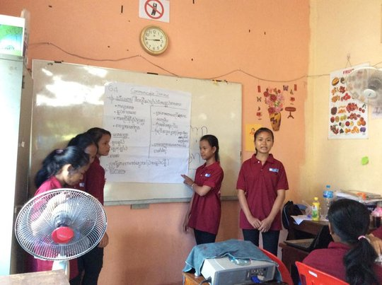 Life skill students present about communication