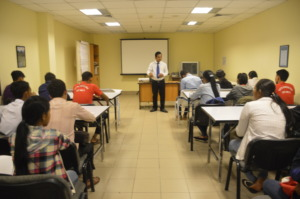 Training room at Sokha hotel during their visit