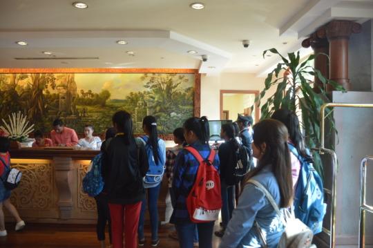 At Reception during the visit at Sokha