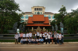 Group picture in front of Pacific hotel