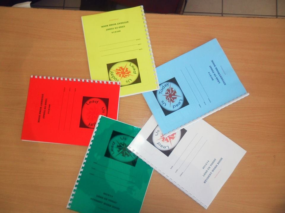 The colorful 2013/4 LUT student training workbooks