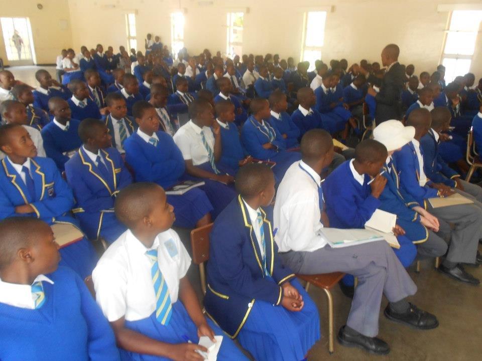 External speaker motivating Lead Us Today students
