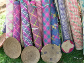 Baskets and mats handcrafted by Bugiri Group