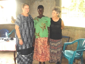 a vulnerable lady center supported by the project