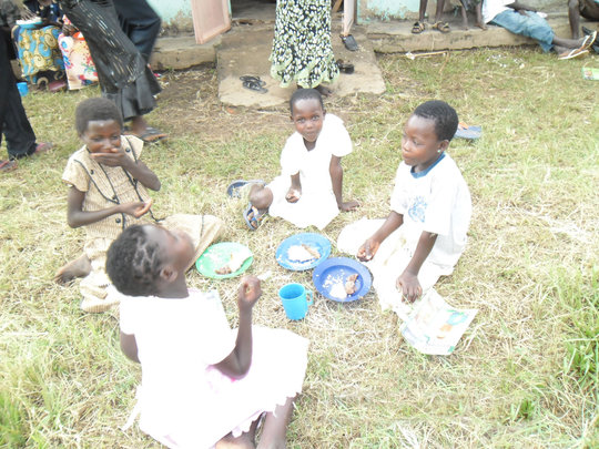 Holiday meal for orphans