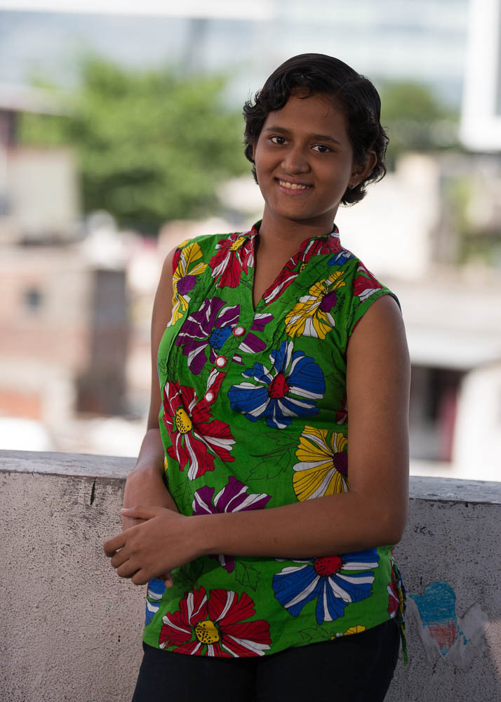 Saniya in June 2015 - an Avasara Academy scholar!