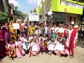 Neighborhood rally to promote literacy & education