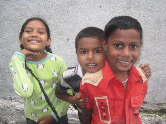 Arjun and his new friends at the Education Centre