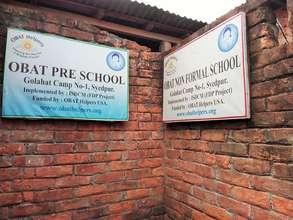 The Preschool sign!