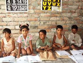 Jibon, with friends at the Khulna Preschool