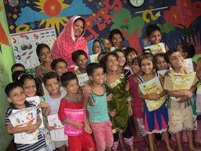 Students with Shayla Azeem