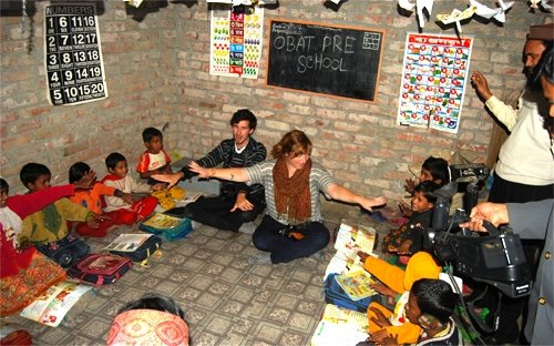 Katie and Zachary at Khulna preschool