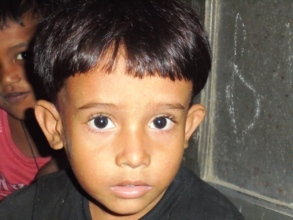 A student at Syedpur Preschool