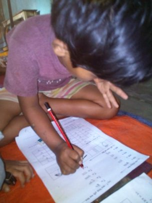 Busy taking test