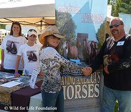 Saving America's Horses educational booth